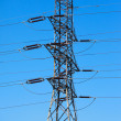 Stock Photo: High tension electric pole