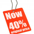 Stock Photo: Sale tag on white