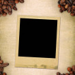 Frame on coffee background — Stock Photo