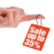 Hand holding sale tag — Stock Photo #2185381