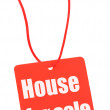 Stock Photo: House for sale tag