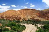 Gedroogde rivier in marokko — Stockfoto