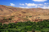 Village among Moroccan hills — Stock Photo