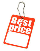 Price tag on white — Stock Photo