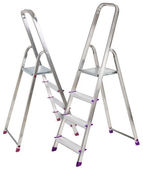 Two aluminium ladders — Stock Photo