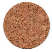 Cork mat isolated on white — Stock Photo