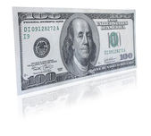One hundred dollar note — Stock Photo