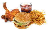 Kolekcja fast food — Zdjęcie stockowe