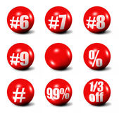 Red 3D spheres — Stock Photo
