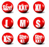 Sizes collection — Stock Photo