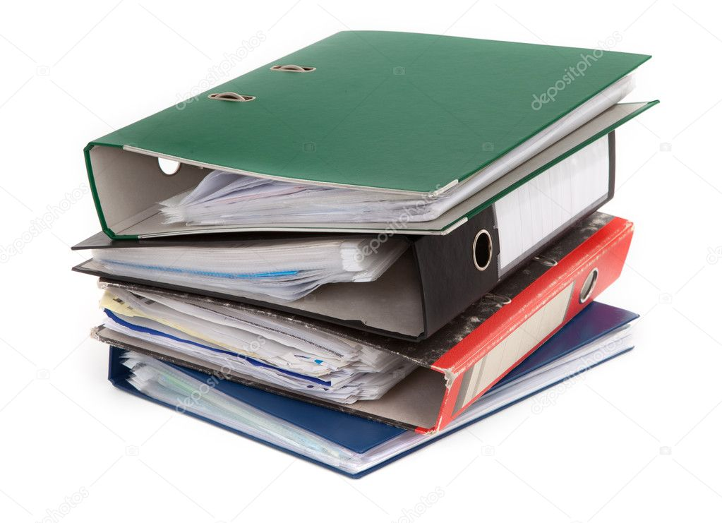 Pile of colorful files against white background — Stock Photo #2183757