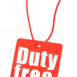 Stock Photo: Duty free tag on white