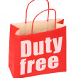 Paper bag with duty free sign — Stock Photo