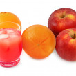 Stock Photo: Freshly squeezed fruit juice