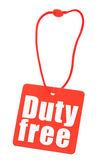 Duty free tag on white — Stock Photo