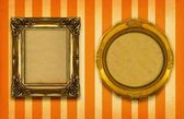 Two gilded frames — Stock Photo