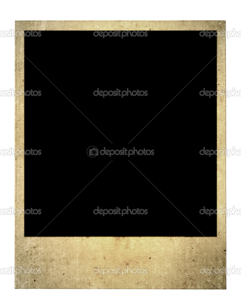 Old blank photo frame isolated on pure white background — Foto Stock #2199663
