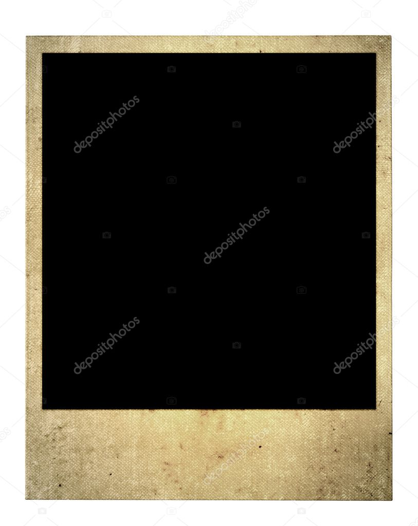Old blank photo frame isolated on pure white background   #2199663