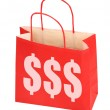 Red shopping bag with dollar sign — Stock Photo #2200090