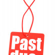 Red tag with with past due inscription - Stock Photo