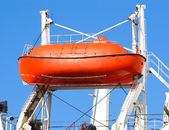 Red lifeboat — Stock Photo