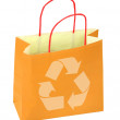 Shopping bag with recycle symbol — Stock Photo