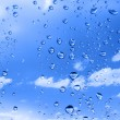 Water drops against summer sky — Stock Photo #2212843