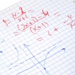 Hand written maths calculations — Stockfoto