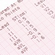 Cardiographical test results — Stock Photo