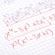 Hand written maths calculations — 图库照片