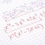 Hand written maths calculations — Stock Photo