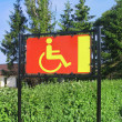 Reserved only for disabled — Stockfoto