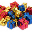 Group of multicolored gifts — Stock Photo #2217744