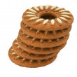 Tower of biscuits — Stock Photo
