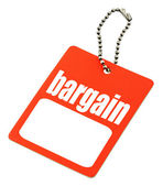Bargain tag with copy space — Stock Photo