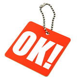 Price tag with OK — Stock Photo