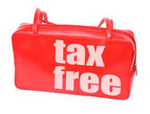 Handbag with tax free — Stock Photo