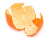 Orange zest on white — Stock Photo