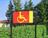 Reserved only for disabled — Stock Photo
