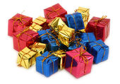 Group of multicolored gifts — Stockfoto