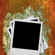 Stack of blank photo frames — Stock Photo