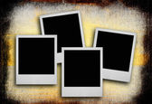 Photo frames against dirty background — Stock Photo