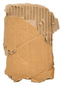 Piece of cardboard — Stock Photo