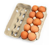 Ten eggs in a box #2 — Stock Photo