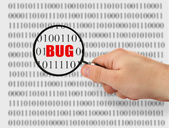 Searching for bug — Stockfoto