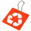 Tag with recyclable symbol — Stock Photo