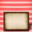 Frame against striped background — Stock Photo