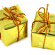 Two golden gifts — Stock Photo