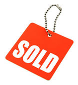Sold tag — Stock Photo