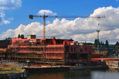 Ship under construction — Stock Photo
